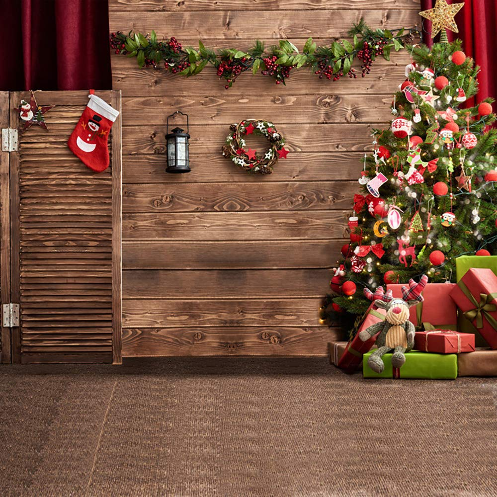 Amazon Com Sjoloon Christmas Backdrop Christmas Theme Pictorial Vinyl Photography Backdrop Christmas Photo Background Studio Props 10370 10x10ft Camera Photo