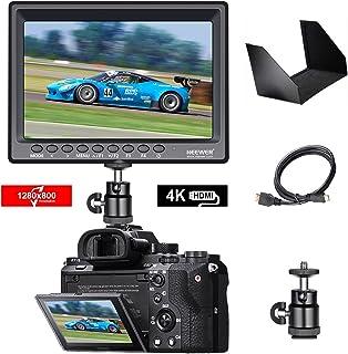 Neewer F100 7 1280x800 IPS Pantalla Monitor de Campo de Cámara Soporte 4k Entrada Video HDMI para DSLR Cámara sin Espejo SONY A7S II A6500 Panasonic GH5 Canon 5D Mark IV y más (Batería no incluida)