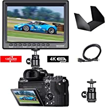 Neewer F100 7-inch 4k 1280x800 IPS Screen Camera Field Monitor with 1 Mini HDMI Cable for BMPCC,AV Cable for FPV, 16:10 or 4:3 Adjustable Display Ratio for DSLR and Camcorder(Battery NOT Included)