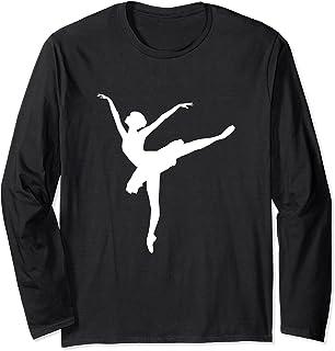 Ballerine Silhouette Ballet Dance Design Fille Danse Manche Longue