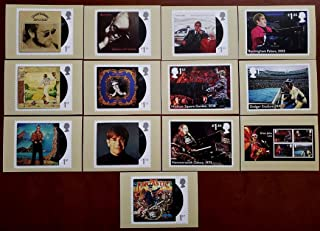 Great Britain Stamps Elton John Post Cards Issued by Royal Mail