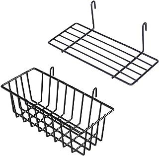 GBYAN Cesta colgante para macetas, expositor para pared de alambre, 2 unidades