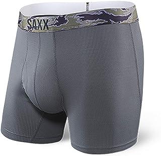 SAXX Underwear Co. Boxer Briefs – Quest 2.0 Underwear – Boxer Briefs With Built-In Ballpark Pouch Support mens|Dark Charco...