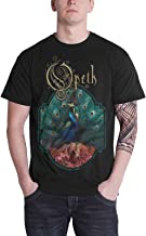 Opeth T Shirt Sorceress Peacock Feathers Band Logo Official Mens Black