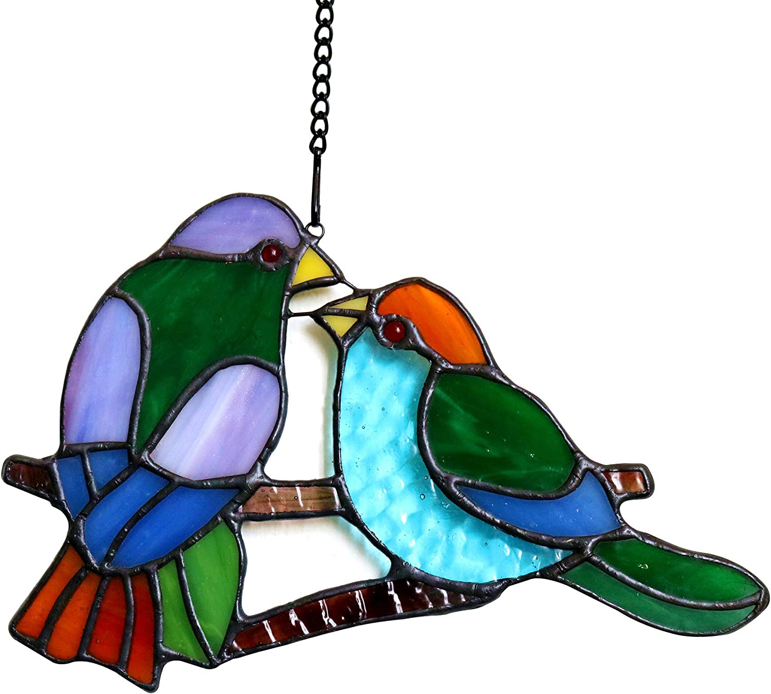 HAOSUM Lover Birds Tiffany Style Window Glass Recommendation O Stained High quality new Hangings