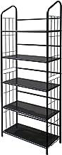 Legacy Decor 5 Tier Metal Utility Bookcase Bookshelf Rack Black Finish 13