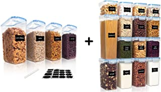 Vtopmart 4pcs Cereal Containers and 15pcs Airtight Food Containers