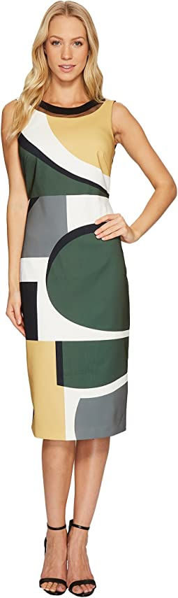 Laundry by Shelli Segal - Midi Dress with Cut Out Back Detail