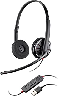 Plantronics 85619-102 Wire C320 Wired Headset , On- Ear , Black