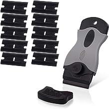 Ehdis Plastic schraper Sticker Remover met 10 kunststof scheermes dubbele randen voor het verwijderen van Label Gum Decal ...