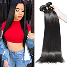 AOSUN HAIR Brazilian Straight Hair Bundles 1 Bundles 8inch Virgin Remy Human Hair Weave Weft Extensions Natural Color 10g Sample for Test (8