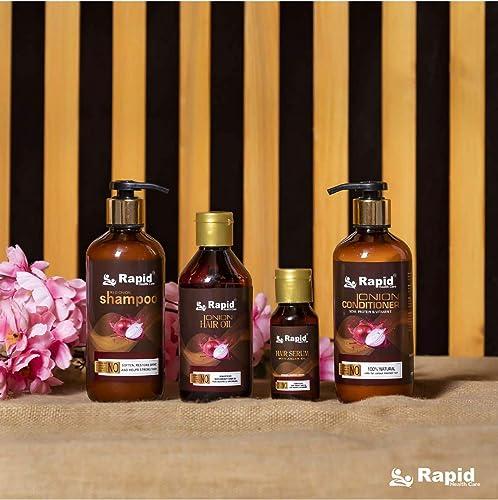 Rapid Health care Onion Black Seed Oil Hair Care Ultimate 4 Kit Shampoo Hair Conditioner Hair Oil Hair Serum
