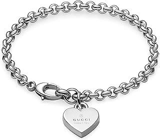 4ee320bfb GUCCI TRADEMARK Heart pendent silver bracelet cm 18 YBA3562100018