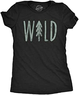 Womens Wild T shirt Cute Vacation Adventure Camping Hiking Vintage Graphic Tee