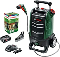 Bosch Fontus 06008B6070 Cordless Outdoor Pressure Washer Cleaner, with 15 Litre Water Tank (1 Battery, 18 Volt System, Max...