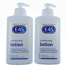 E45 Dermatological Moisturising Lotion, X Two At 500Ml Each