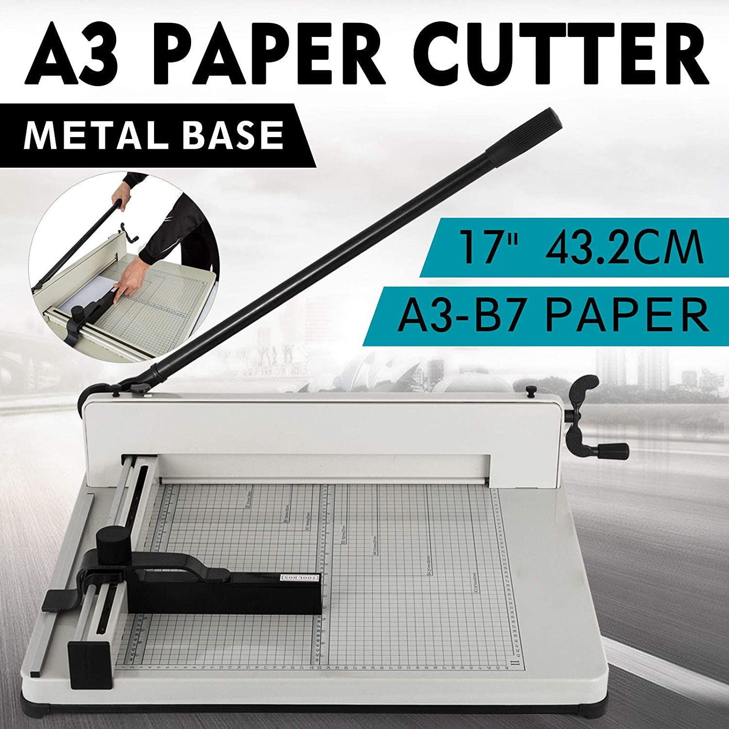 New Heavy Max 48% Finally popular brand OFF Duty Guillotine Paper Metal-Base Commercial 17 Cutter