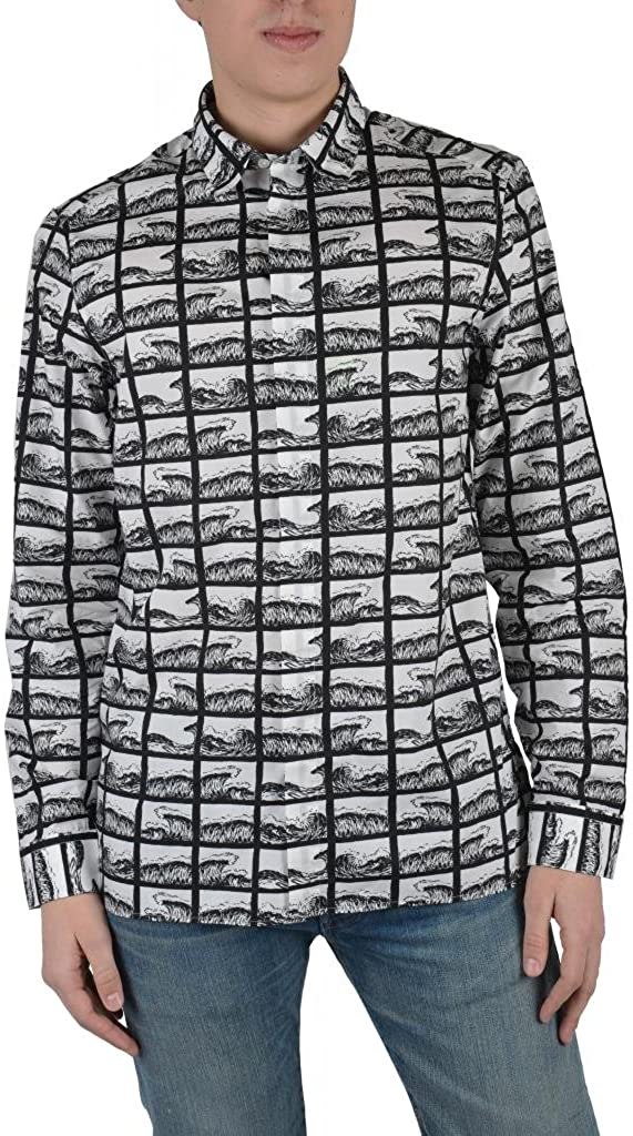 Kenzo Men's Multi-Color Long Sleeve Button Down Casual Shirts