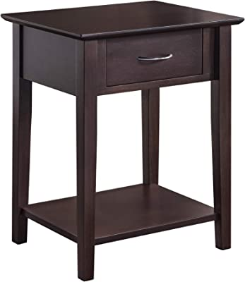 2L Lifestyle Holmes Night Stand with Drawer,Brown