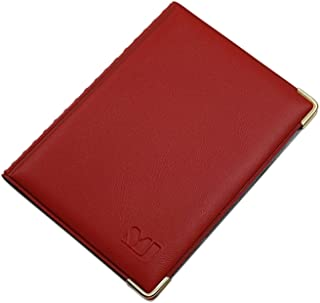 Exclusive ID and Credit Card Holder with Metal Corners 10 Pockets (Design 2 / Red)