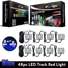 Partsam Truck Box Light 48-5050-SMD Rock Light for Trucks LED Truck Bed Lights Kits, Blue Lights for Vans,Trailers,Under Off Road Truck SUV,Pickup Truck