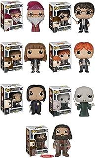 Funko Pop: Harry Potter Bundle- Harry Potter, Voldemort, Albus Dumbledore, Hermione Granger, Ron Weasley, Severus Snape and 6