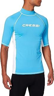 Cressi Men Men's Lycra Skin Short Sleeve Rash Guard UV Sun Protection (UPF) 50+ Men's Lycra Skin Short Sleeve Rash Guard U...