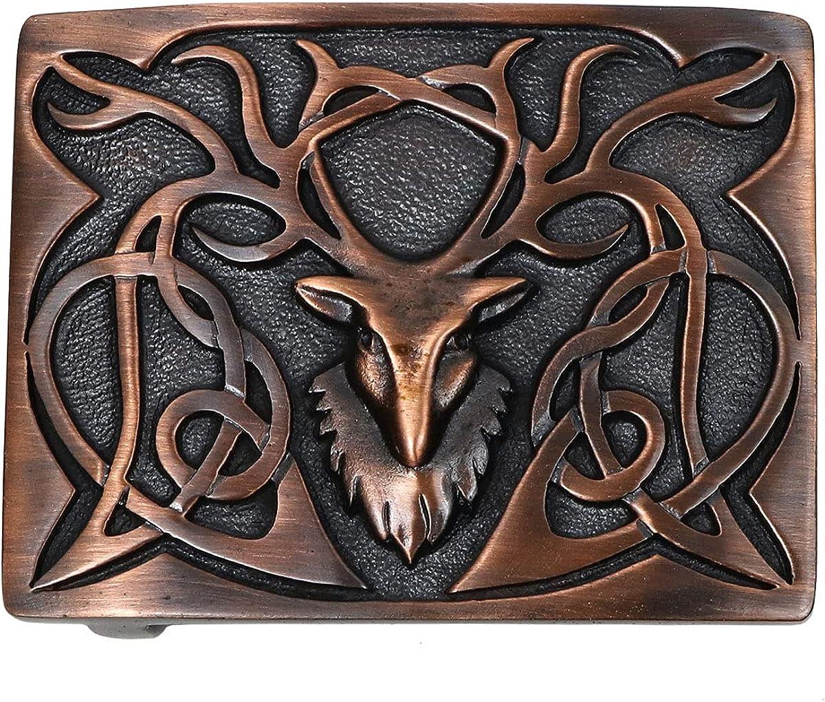 Max 61% OFF Stags Head Bronze Trust Kilt Belt in - Made Scotland Buckle