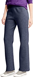 Hanes Women's EcoSmart Sweatpant – Regular and Petite Lengths, Hanes Navy Heather, Medium Petite