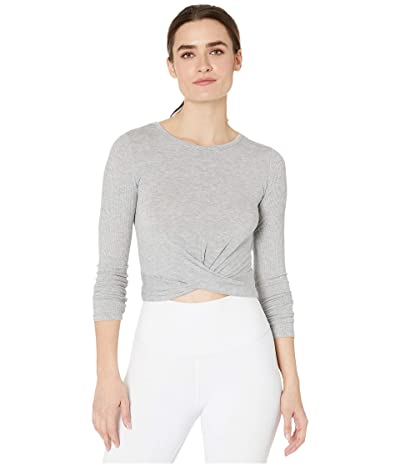 ALO Cover Long Sleeve Top (Dove Grey Heather) Women