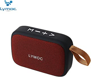 LYMOC Wireless Speaker,Portable Bluetooth Speakers Loudspeaker Box Fabric Outdoor Stereo Audio Inserts TF Card U-Disk MP3 Player for iPhone Android Phone (Red)