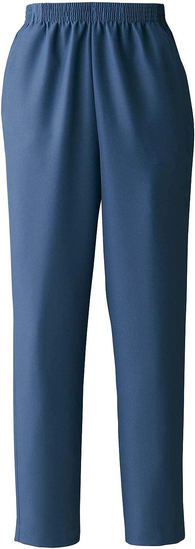 National Women's Elastic-Waist Gabardine Pull-On Pants - Wrinkle Resistant Easy Care and Wear Customer Favorite, Denim Blue, 18WP