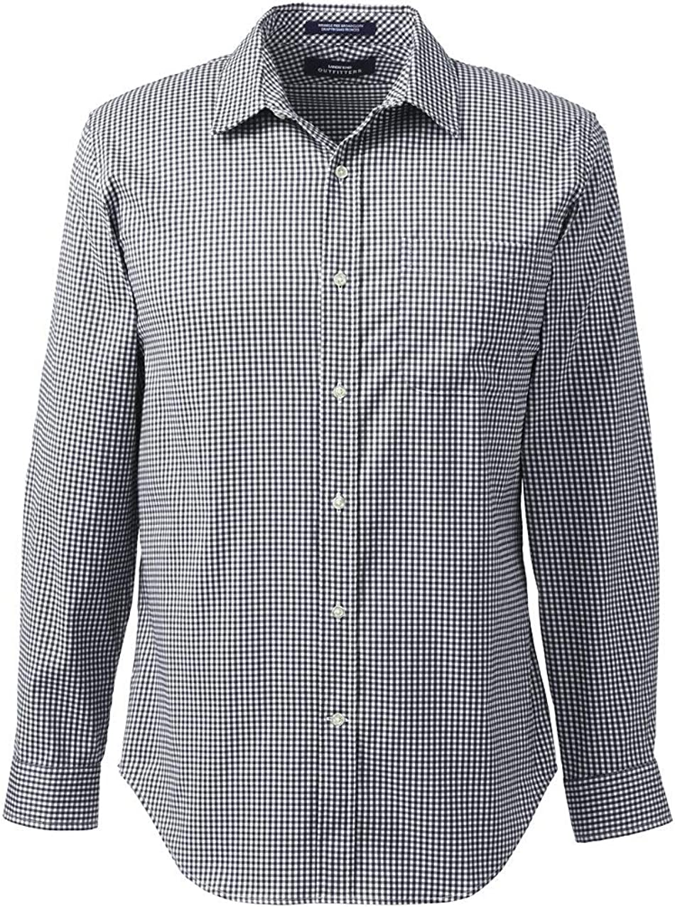 Lands' End Men's Straight Color Tailored Stretch Shirt
