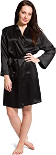 Fishers Finery Women's 100% Pure Mulberry Silk Robe; Above Knee; Pockets