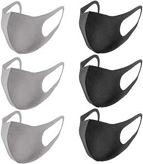 RENREN 6 piezas, negro y gris.