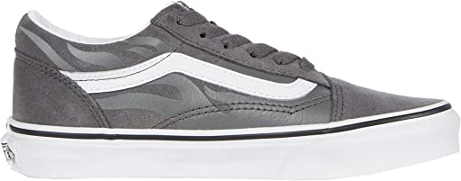 (Suede Flame) Pewter/True White
