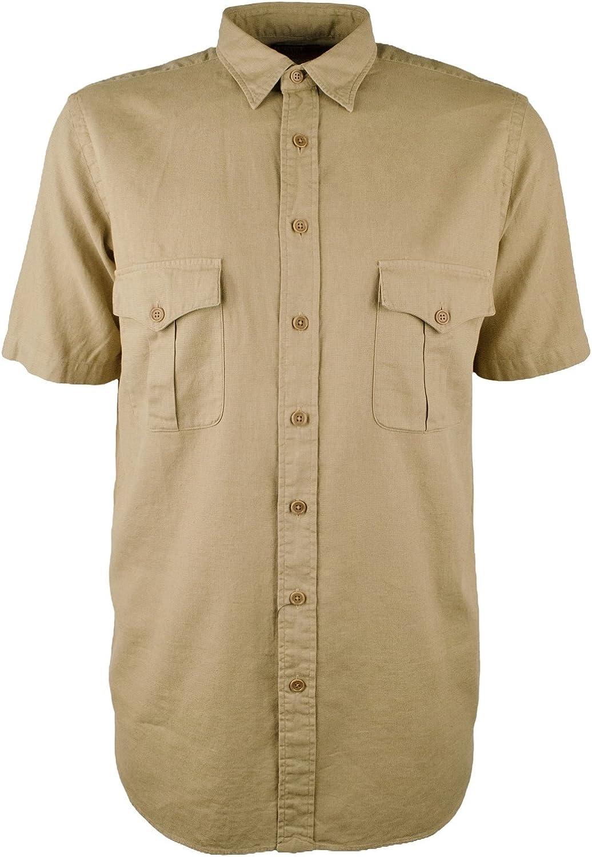 Polo Ralph Lauren Men's Big Tall Linen Cotton Button Down Shirt