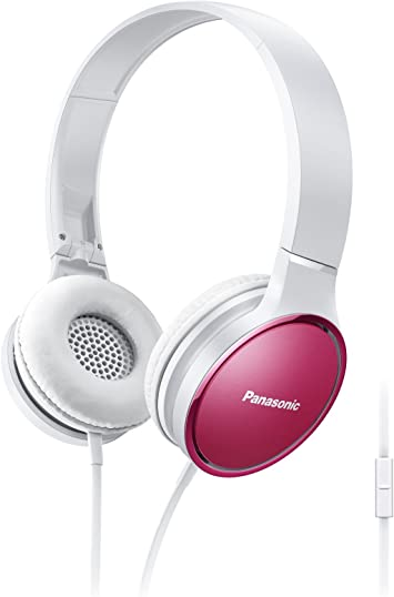 Panasonic RP-HF300M On-Ear Stereo Wired Headphones with Microphone $12.99
