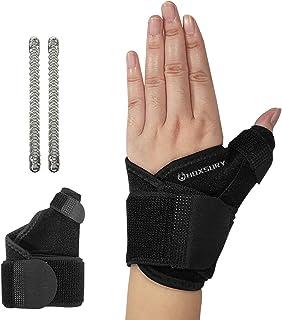 مهاربند مچ دست برای تونل کارپال ، مهاربند قابل تنظیم انگشت شست برای محافظت از ورزش / تسکین درد تاندونیت ، مهاربند مچ دست آتل برای شب مردان ، مناسب برای هر دو چپ / راست