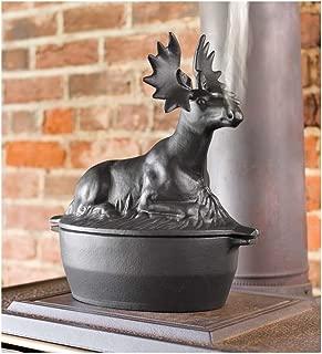Nerdi Cast Iron Moose Wood Stove Steamer 13.12 L x 12.25 W x 7.25 H, 12-1/4