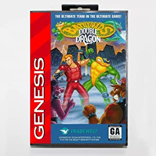New 16 Bit Md Game Card - Battletoads & Double Dragon With Retail Box For Sega Genesis System EUR Shell