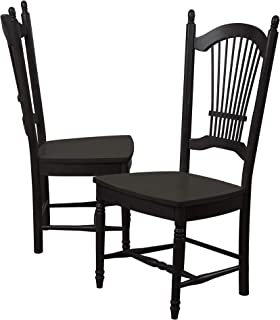 Sunset Trading Black Cherry Selections Dining Chair, Distressed Antique