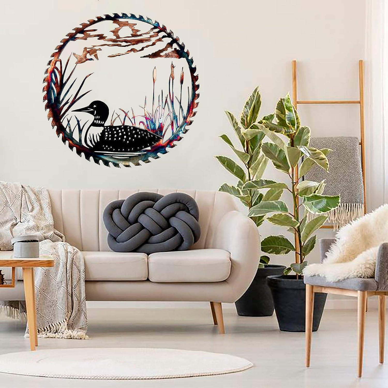 Kitchen Bathroom Indoor bird Elk Deer Metal Wall Art Sculpture Collections with Rustic Cabin D/écor Finish Wall Decor Hanging for Living Room Bedroom Elk Metal Wall Art Decor