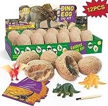 12 Huevos de Dinosaurio Kit de Excavación Juguetes de Dino 12 Figuras de Dinosaurios Arqueología para Niños Ciencias Regalo de Infantile