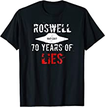 ROSWELL ~ 70 Years of LIES ~ UFO alien t-shirt