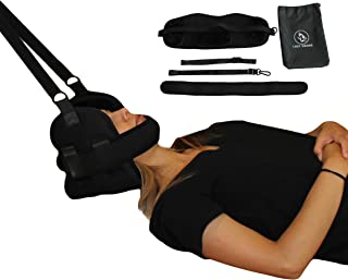 Lazy Drone Enhanced Neck and Cervical Traction for Chronic Neck and Shoulder Pain, Text Neck, Correct Poor Posture, Stress Relief; Portable Hammock Sling for Home or Office Physical Therapy