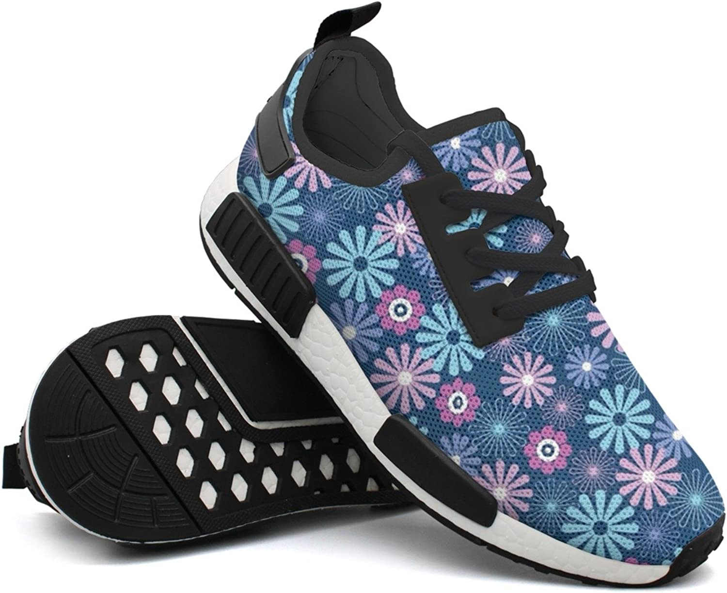 Fashion Sneakers shoes For Men Daisy Flower Pattern Cool Lightweight Breathable Mesh Mens Sneakers