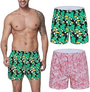 2b7efada34 Qinnyo Boxer for Men Shorts Briefs Pajama Casual Household Arrow Home Pants  Underwear Badehose M-