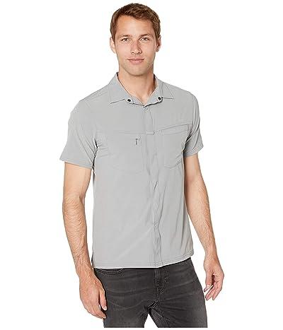 Royal Robbins City Traveler Short Sleeve Shirt (Light Pewter) Men