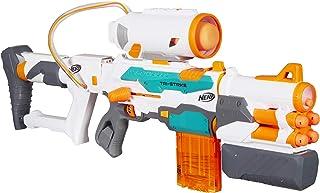 NERF Modulus - Tri Strike Blaster inc Barrel Extension, Missile Launcher, 14 official Elite Darts & 1 Missile - Kids Toys & Outdoor games - Ages 8+